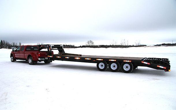 Hotshot truck and trailer